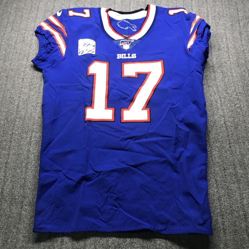 NFL Auction | Crucial Catch - Bills Josh Allen Game Used Jersey ...