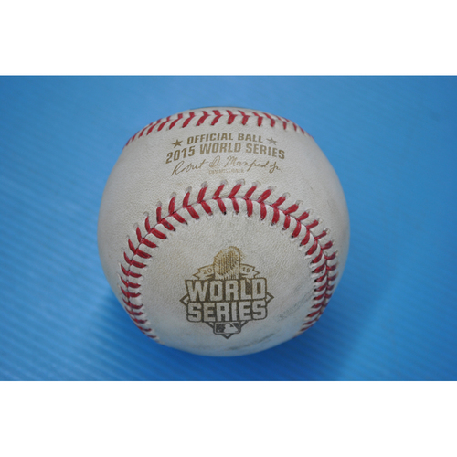 Photo of Game-Used Baseball - 2015 World Series - Game 4 Pitcher: Luke Hochevar, Batters: David Wright/Yoenis Cespedes - Flied Out/Pitch in Dirt - 6th Inning