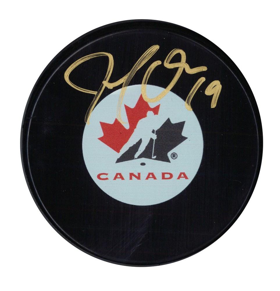 Joe Thornton Signed Team Canada Logo Puck with #19