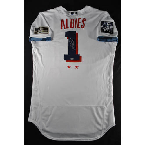 Photo of Ozzie Albies 2021 Major League Baseball All-Star Game Autographed Jersey