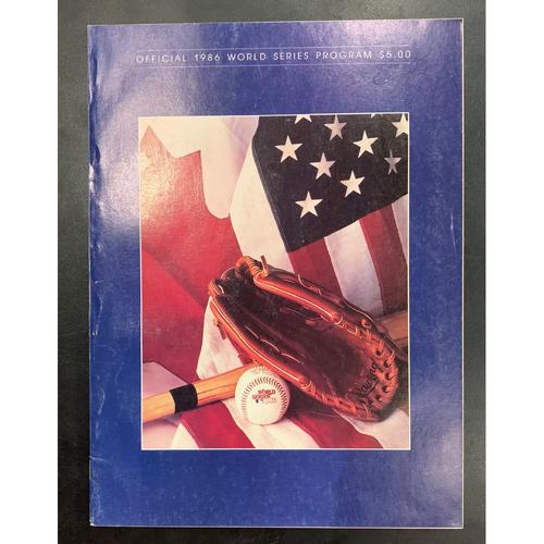 New York Mets vs Boston Red Sox 1986 World Series Program