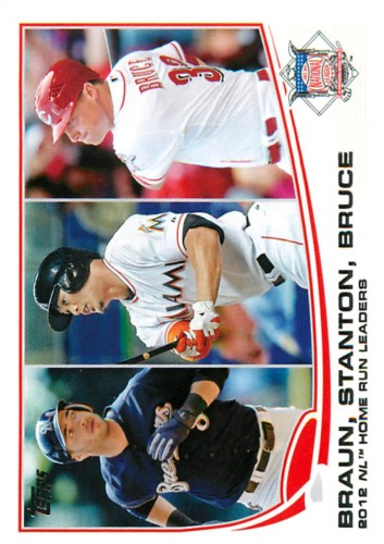 Photo of 2013 Topps #246 Ryan Braun/Giancarlo Stanton/Jay Bruce