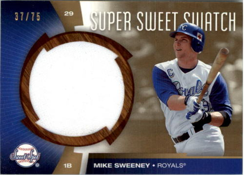 Photo of 2006 Sweet Spot Super Sweet Swatch Gold #MS Mike Sweeney Jsy