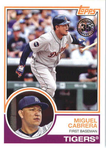 Photo of 2018 Topps '83 Topps #8341 Miguel Cabrera