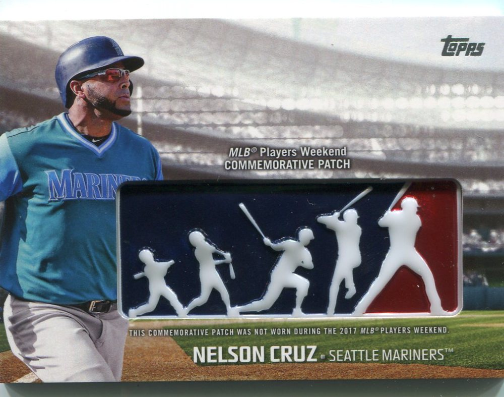 2018 Topps Players Weekend Patches #PWPNC Nelson Cruz