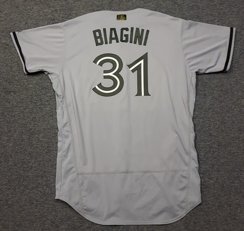 Photo of Authenticated Game Used 2018 Memorial Day Jersey - #31 Joe Biagini (May 26, 2018: 0.2 IP, 1 Hit, 1 ER. May 28, 2018). Size 50