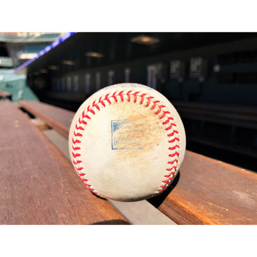 Photo of Colorado Rockies Game-Used Baseball - Robles v. Cuevas - RBI Double to Smith - June 19, 2018