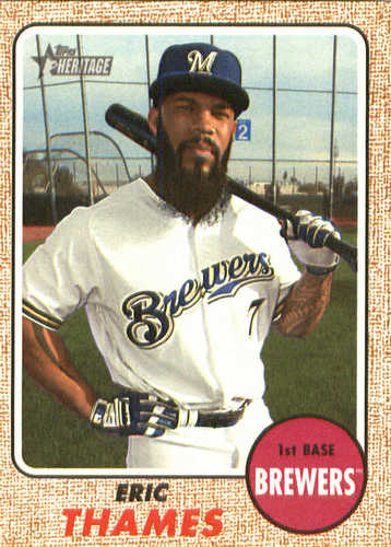 Photo of 2017 Topps Heritage #535A Eric Thames