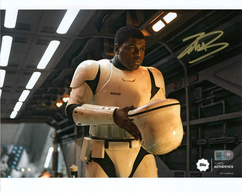 John Boyega as FN-2187 8x10 Autographed in Gold Ink Photo