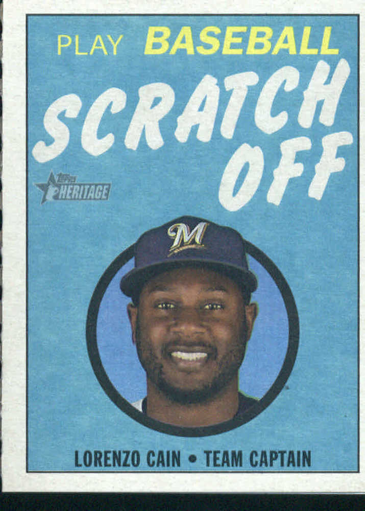 2019 Topps Heritage '70 Topps Scratch Offs #6 Lorenzo Cain
