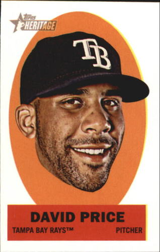 Photo of 2012 Topps Heritage Stick-Ons #11 David Price