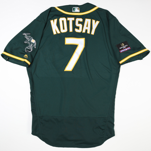 Photo of 2019 Japan Opening Day Series - Game Used Jersey - Mark Kotsay, Oakland Athletics at Nippon Ham Fighters -3/17/2019