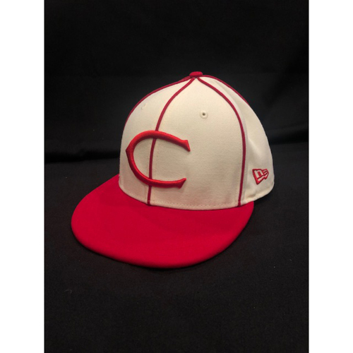 Photo of Michael Lorenzen -- Game-Used Cap -- 1912 Throwback Game (Relief Pitcher: 1.1 IP, 3 K) -- Dodgers vs. Reds on May 19, 2019