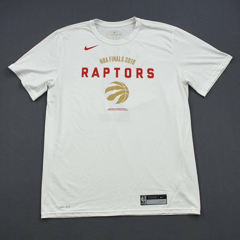 Kawhi Leonard - Toronto Raptors - 2019 NBA Finals - Game 2 - Game-Worn Short-Sleeved Shooting Shirt