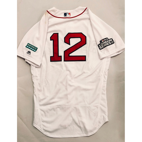2019 London Series - Game-Used Jersey - Brock Holt, New York Yankees vs Boston Red Sox - 6/29/19
