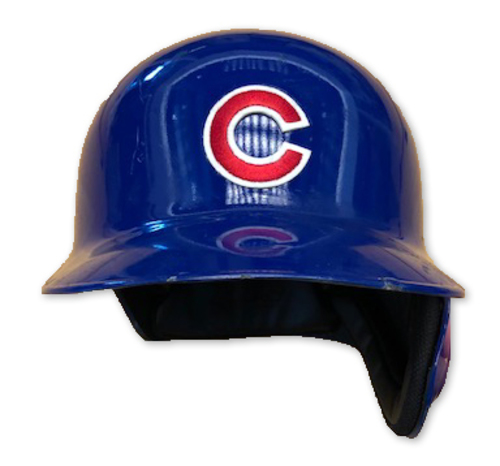 Photo of Adbert Alzolay Team-Issued Batting Helmet -- 2019 Season -- Size 7 3/8