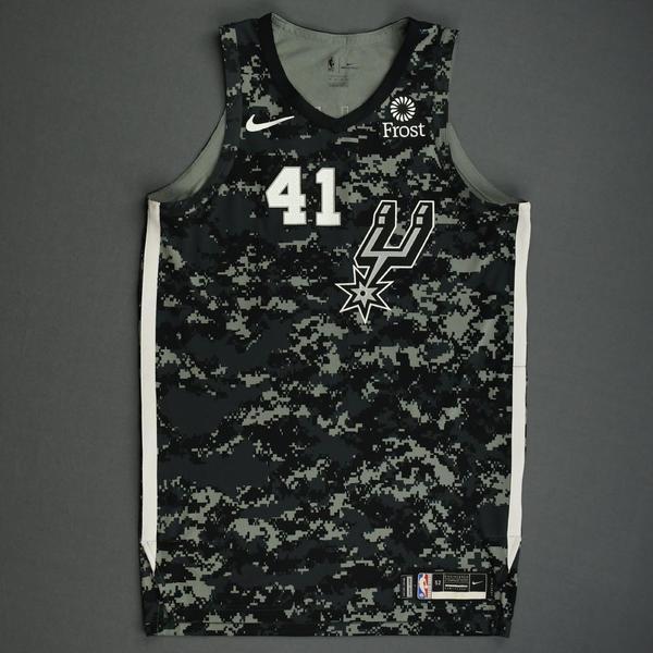 Image of Trey Lyles - San Antonio Spurs - Game-Worn City Edition Jersey - 2019-20 Season