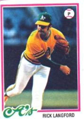 Photo of 1978 Topps #327 Rick Langford DP RC