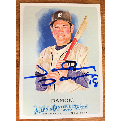 Photo of Johnny Damon Autographed Detroit Tigers 2010 Allen & Ginter's Baseball Card (NOT MLB AUTHENTICATED)