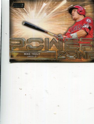 Photo of 2017 Stadium Club Power Zone #PZMT Mike Trout