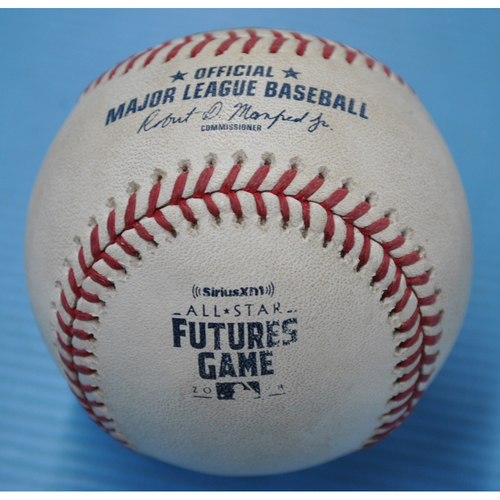 Photo of Game-Used Baseball - 2018 All-Star Futures Game - Pitcher: Bryan Mata, Batters: Ke'Byan Hayes/Jo Adell - 3rd Inning - Walk/Foul
