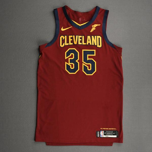 Image of Isaac Okoro - Cleveland Cavaliers - Kia NBA Tip-Off 2020 - Game-Worn Icon Edition Jersey - NBA Debut (5th Overall Draft Pick)