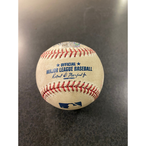 Photo of Game Used Baseball: Pitcher:  Ljay Newsome, Batter: Cody Bellinger (Home Run)- Top 8th (LAD @ SEA -8/20/2020)