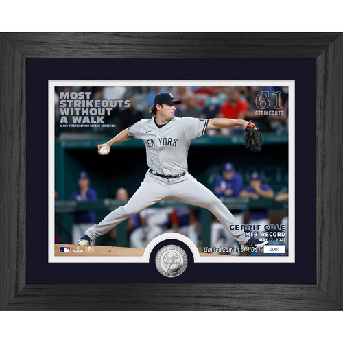 Photo of Most Strikeouts Without a Walk Silver Coin Photo Mint