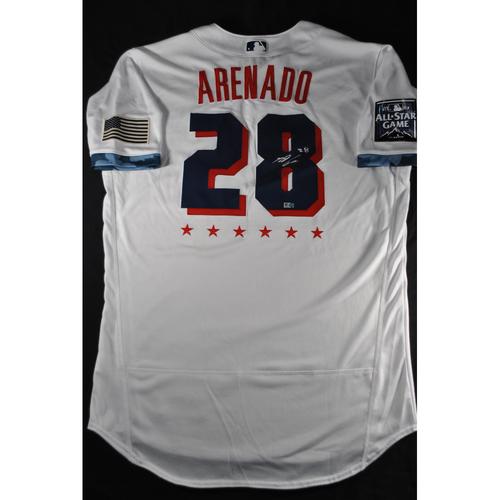 Photo of Nolan Arenado 2021 Major League Baseball All-Star Game Autographed Jersey