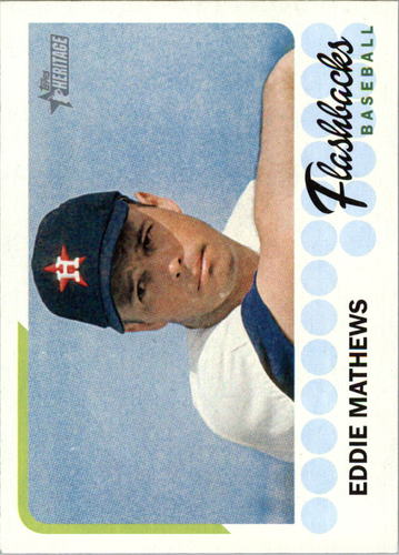 Photo of 2016 Topps Heritage Baseball Flashbacks #BFEM Eddie Mathews
