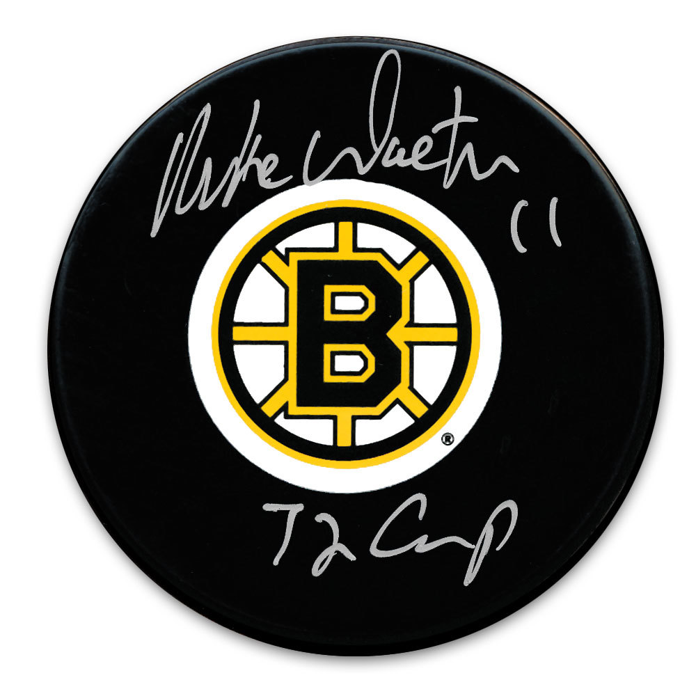 Mike Walton Boston Bruins 1972 Cup Autographed Puck