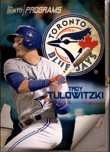 Photo of 2017 Topps Bunt Programs #PRTT Troy Tulowitzki