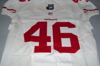 49ERS - BRIAN LEONHARDT GAME WORN 49ERS JERSEY (DECEMBER 13 2015) JERSEY IS WASHED