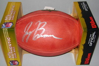 NFL - TITANS JAYON BROWN SIGNED AUTHENTIC FOOTBALL