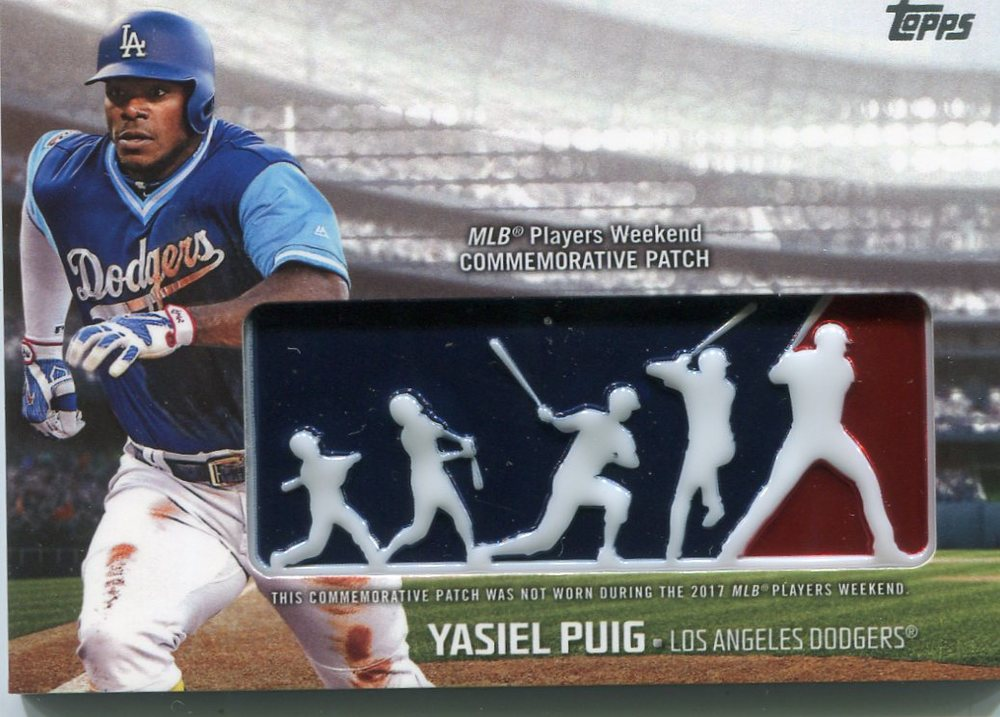 2018 Topps Players Weekend Patches #PWPYP Yasiel Puig