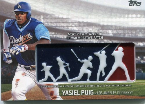 Photo of 2018 Topps Players Weekend Patches #PWPYP Yasiel Puig