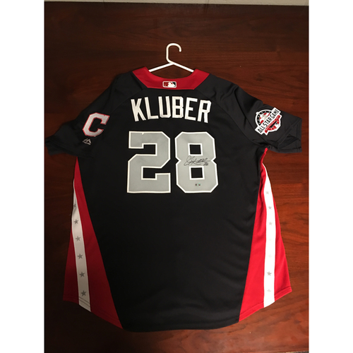 Photo of Corey Kluber 2018 Major League Baseball Workout Day Autographed Jersey