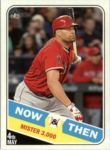 Photo of 2018 Topps Heritage Now and Then #NT6 Albert Pujols