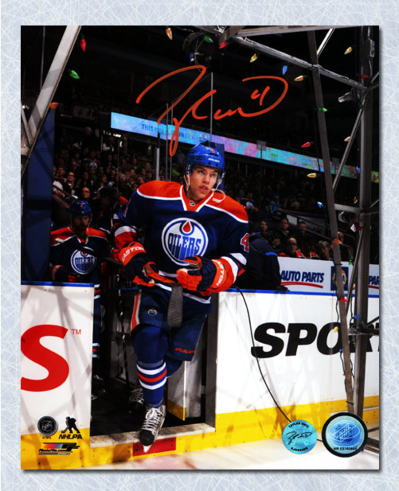 Taylor Hall Edmonton Oilers Autographed Entering the Ice 8x10 Photo