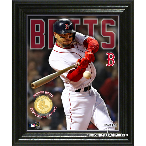 "Photo of Mookie Betts ""Elite Series"" Bronze Coin Photo Mint"