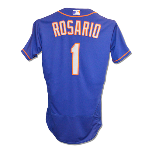 Amed Rosario #1 - Game Used Blue Alt. Road Jersey - 1-4, RBI - Mets vs. Padres - 5/8/2019