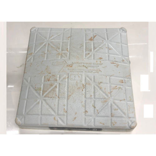 Photo of Game Used Base: Jake Bauers Hits for the Cycle (1st Base, Innings 6-9)