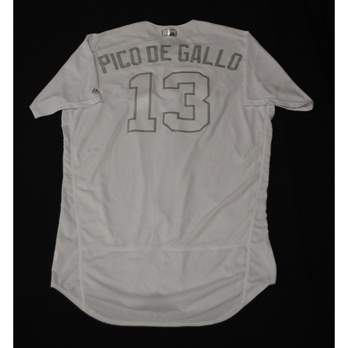 """Photo of Joey """"PICO DE GALLO"""" Gallo Texas Rangers Team-Issued 2019 Players' Weekend Jersey"""
