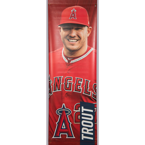 Photo of Mike Trout Team-Issued Street Banner