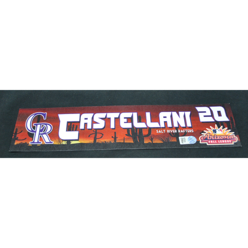 Photo of Arizona Fall League - Game-Used Locker Tag - Ryan Castellani (COL), Jersey Number: 60