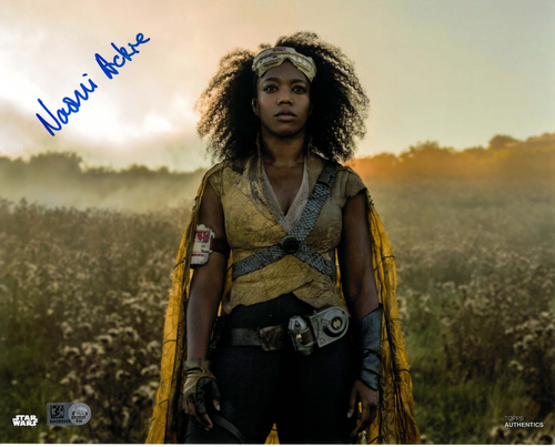 Naomi Ackie As Jannah 8x10 AUTOGRAPHED IN 'Blue' INK PHOTO