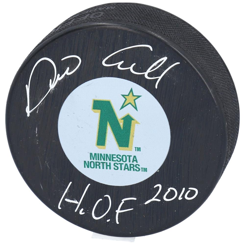 Dino Ciccarelli Minnesota North Stars Autographed Hockey Puck with