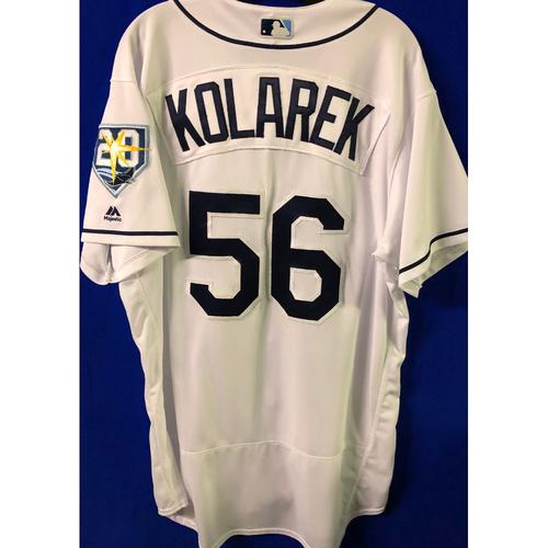Photo of 20th Anniversary Game Used Jersey: Adam Kolarek (5 Games)
