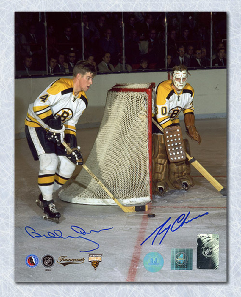 Bobby Orr & Gerry Cheevers Boston Bruins Dual Signed Legends 8x10 Photo GNR COA
