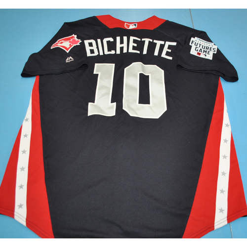 Photo of 2018 Futures Game - Batting Practice Used Jersey - Bo Bichette - 7/15/2018 - Size 44